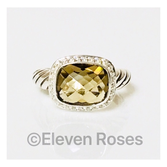 David Yurman Jewelry - David Yurman Smoky Quartz & Diamond Noblesse Ring
